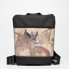 Zipper Backpack with Critters - Watercolour