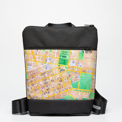 Zipper Backpack with Melbourne Map - Colour