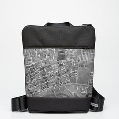 Zipper Backpack with Melbourne Map - Grey