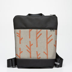 Zipper Backpack with Twig - Copper