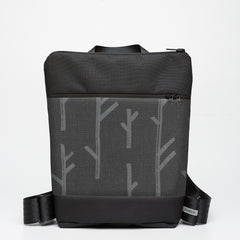 Zipper Backpack with Twig - Grey