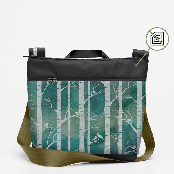 Copy of Travel Shoulderbag with Birch Forest - Marine
