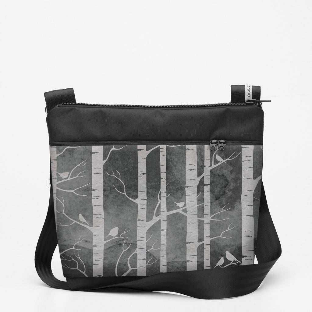 Copy of Travel Shoulderbag with Birch Forest - Smokey