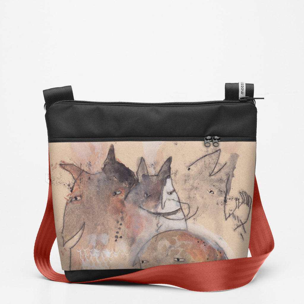 Copy of Travel Shoulderbag with Critters - Watercolour