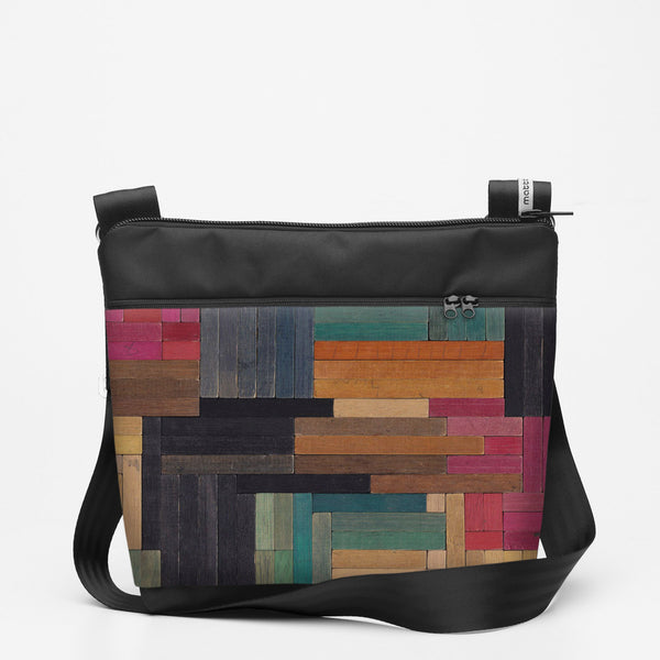Travel Shoulderbag with Cuisenaire - Flat - one strap