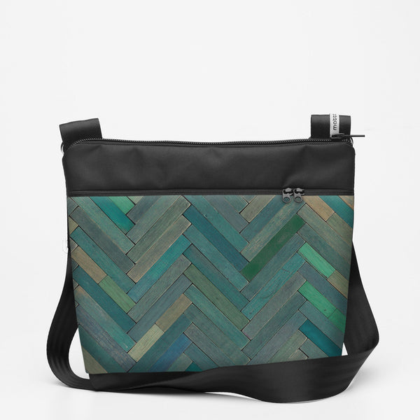 Travel Shoulderbag with Cuisenaire - Green