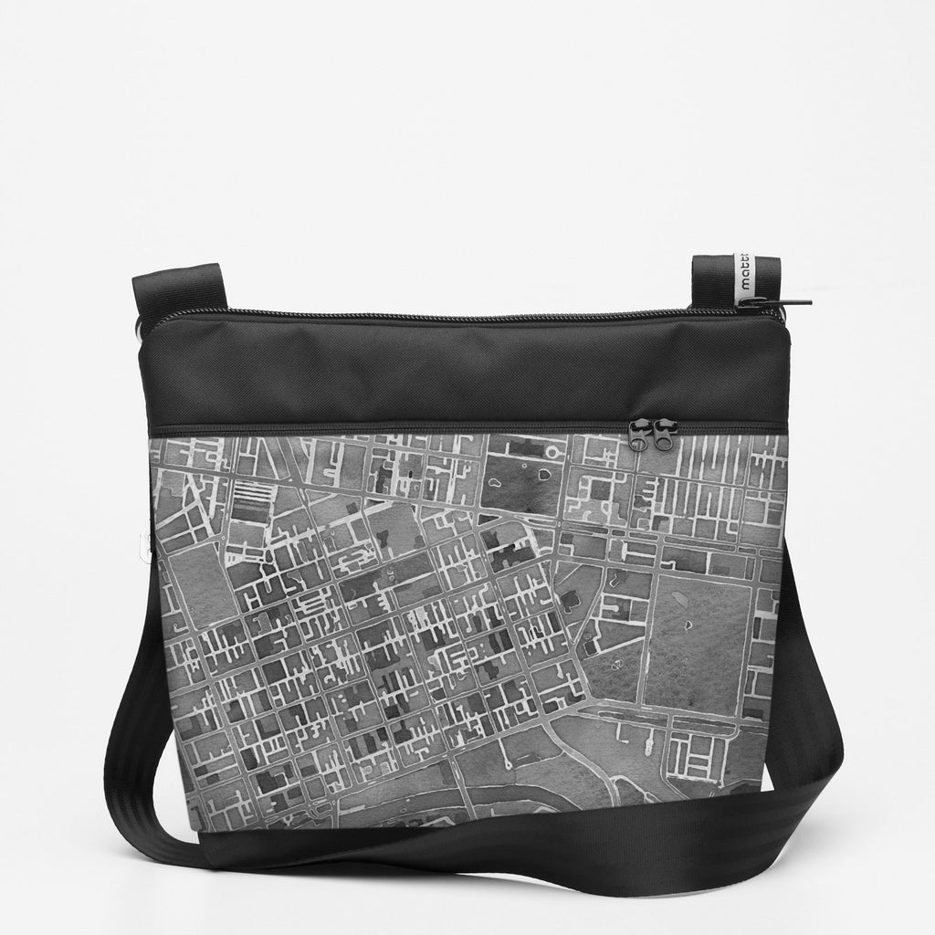 Copy of Travel Shoulderbag with Melbourne - Greyscale