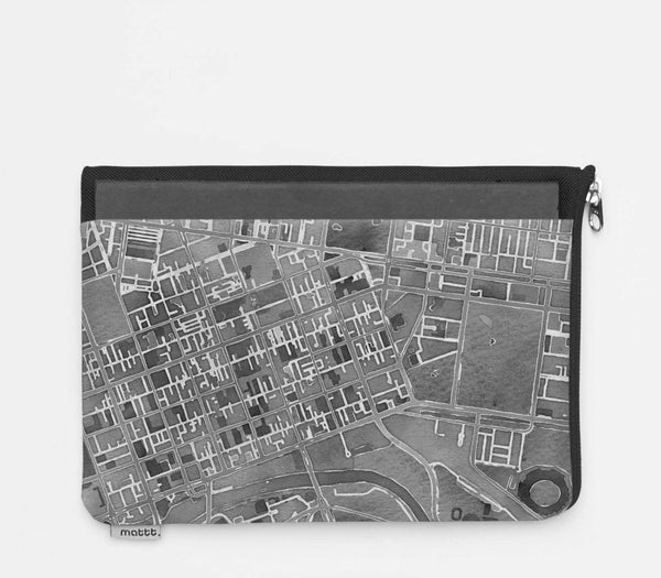 iPad Folio with Melbourne - Greyscale