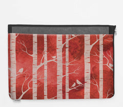 Laptop Folio with Birch Forest - Ruby