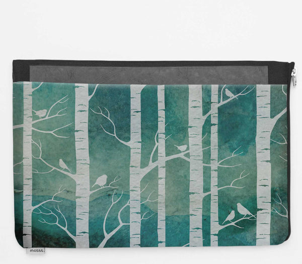 Laptop Folio with Birch Forest - Marine