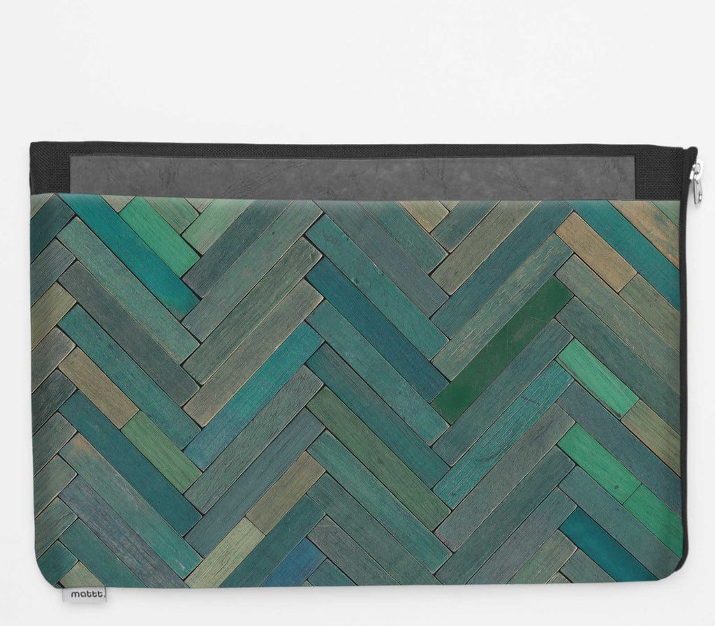 Laptop Folio with Cuisenaire - Green
