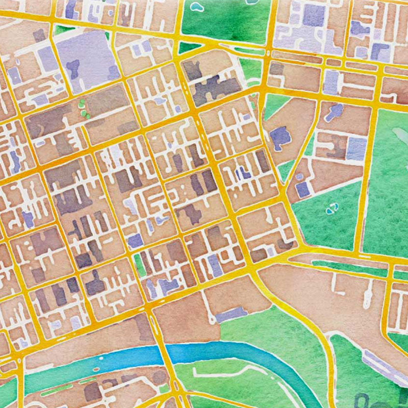 Melbourne Map - Colour