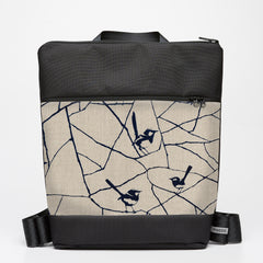 Oversize Backpack with Wrens - Ink Blue