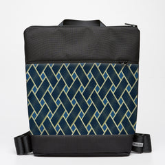 Oversize Backpack with Basket Case - Indigo