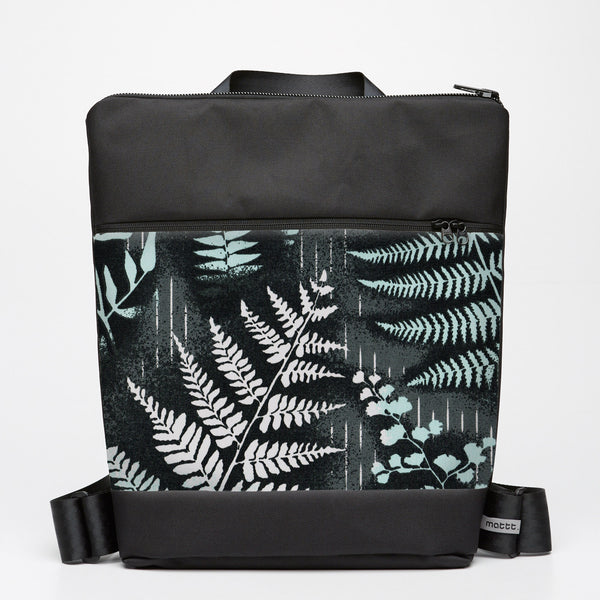 Oversize Backpack with Mountain Fern - Slate