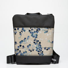 Zipper Backpack with Cherry Blossom
