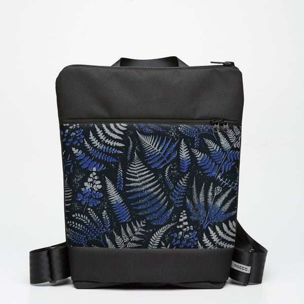 Zipper Backpack with Fern - Indigo