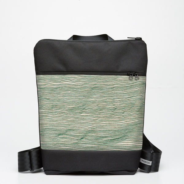 Zipper Backpack with Line Drawing - Moss