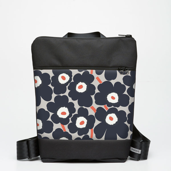 Zipper Backpack with Unikko - Grey