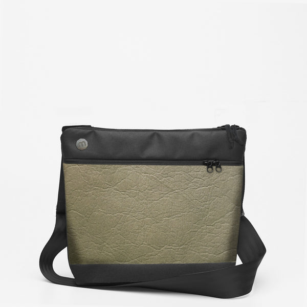 Zipper Shoulderbag • Piñatex - Sage Green