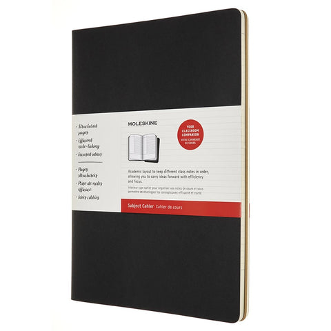 Cahier Subject A4 - Preto/Kraft
