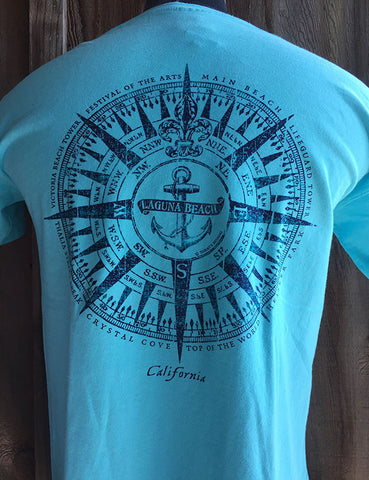 Laguna Beach Anchor Compass T-shirt