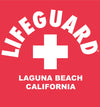 Lifeguard Unisex Adult Sweatshirt - Red - Laguna Beach T-Shirt Co