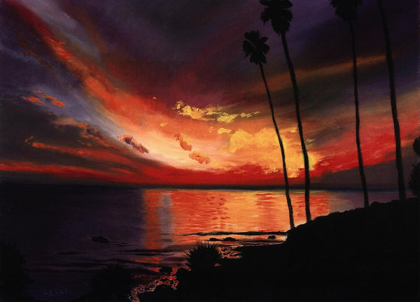 Firey Sunset Print - Laguna Beach T-Shirt Co