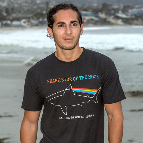 "Laguna Beach ""Shark Side of the Moon"" T-shirt - Laguna Beach T-Shirt Co"
