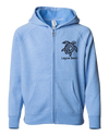 Tribal Turtle Youth Zip Hoodie - Pacific