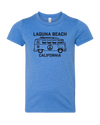 VW Peace Bus Youth Tee - Heather Columbia Blue