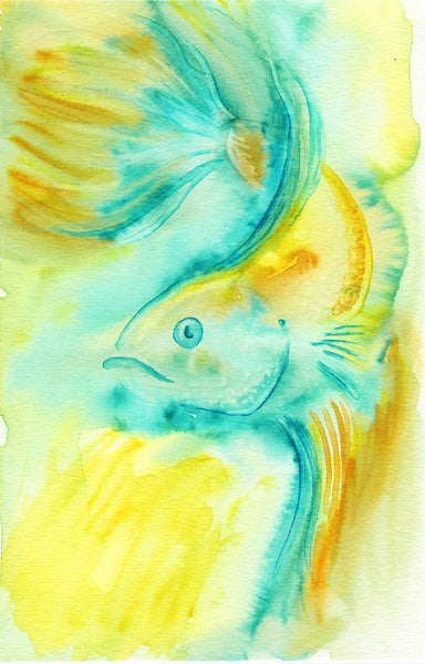 Betta Fish Watercolor Print