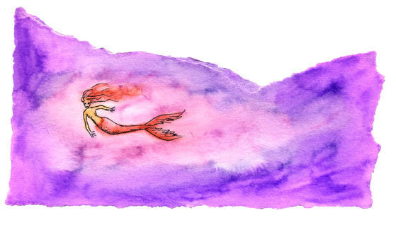 Watercolor Painting of a Mermaid