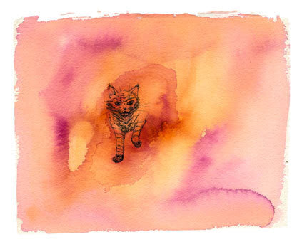 Watercolor Painting of a Cat