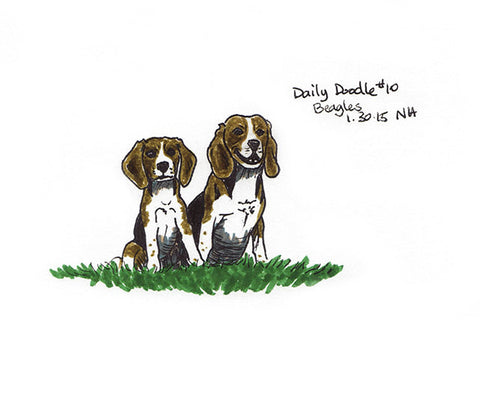 No.010 Beagles / Print