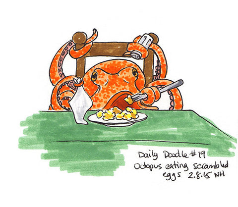 No.019  An octopus eating scrambled eggs!