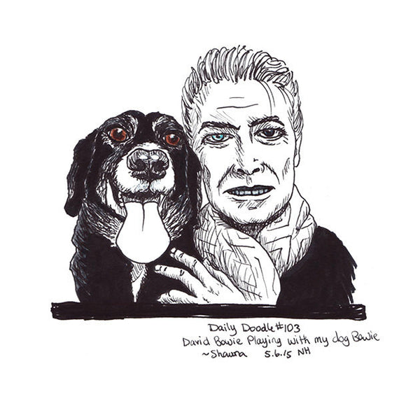 No.103 David Bowie playing with my dog Bowie ~ Shawna