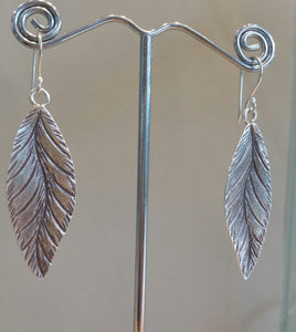 Textured Leaf Earrings