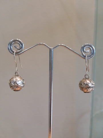 Decorative Ball Earrings