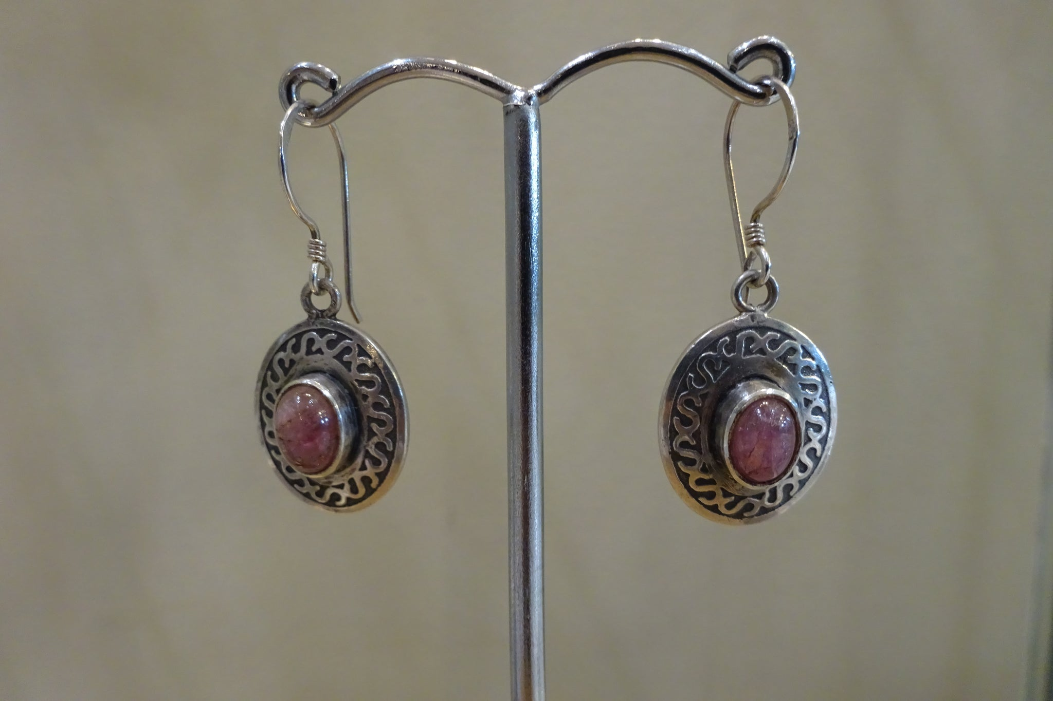 Pink Touramaline Earrings