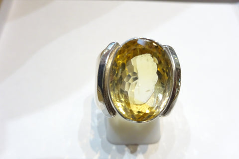 Citrine Curved Ring