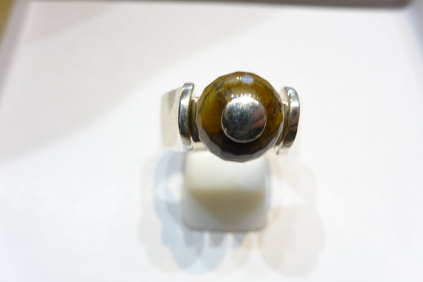Tigers Eye Ball Ring