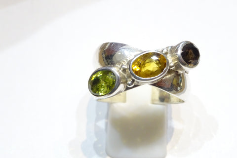 Wraparound Mixed Stone Ring