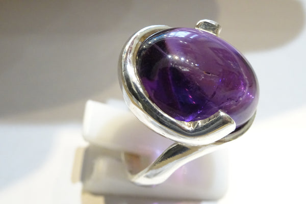 Amethyst Double Claw Ring