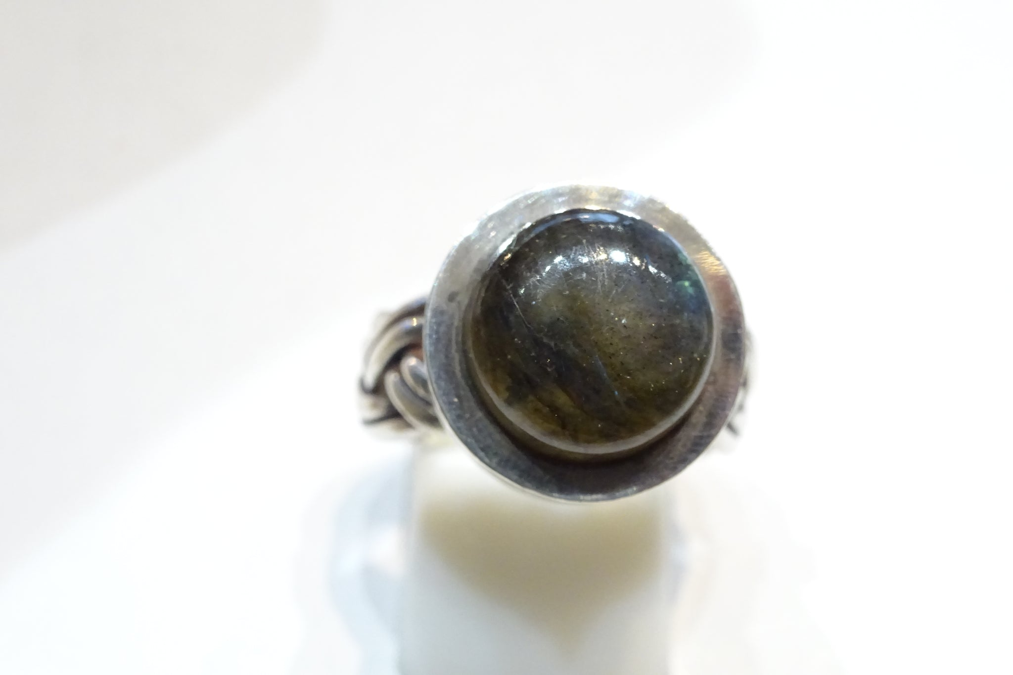 Labradorite Plaited Ring