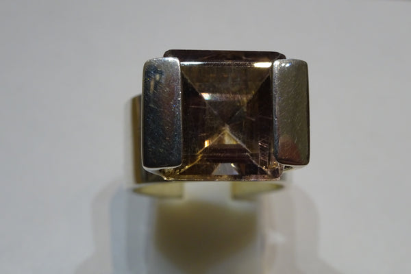 Smoky Quartz Statement Ring
