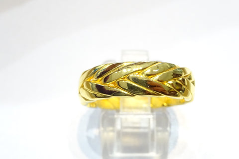 Gold Plated Woven Ring