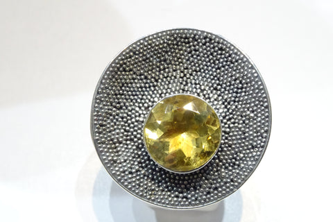 Citrine Textured Ring