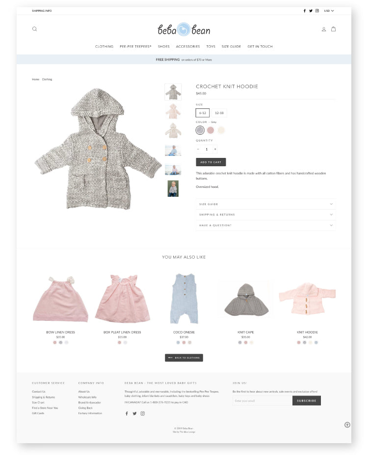 Shopify Baby Clothes