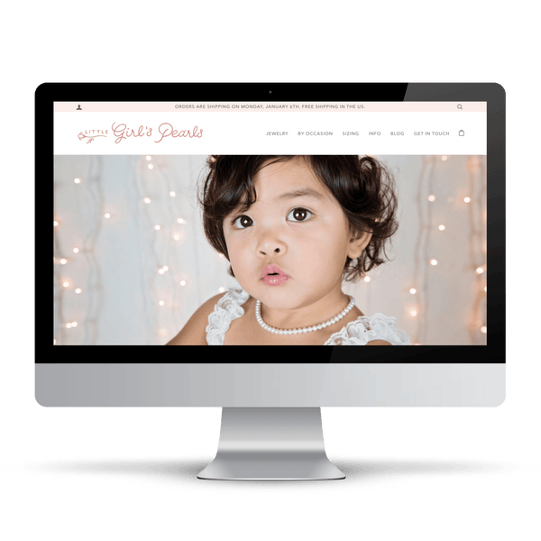 Shopify website for personalized jewelry